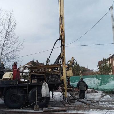 Бурение скважины на воду в д. Грибаново