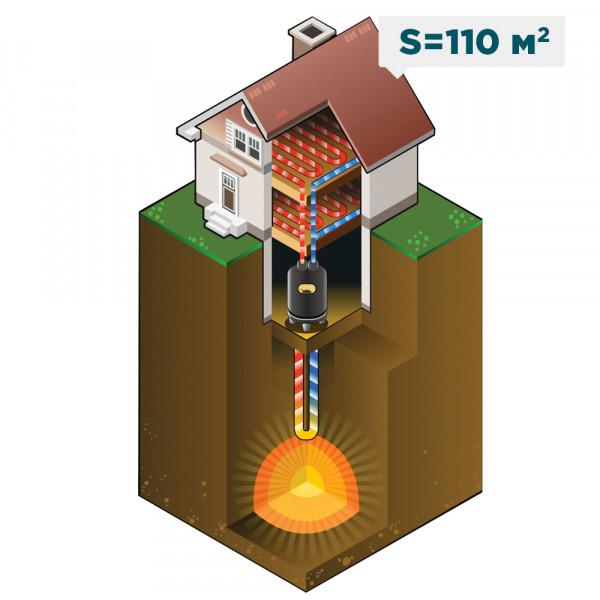 Отопление жилого загородного дома площадью 110 м²
