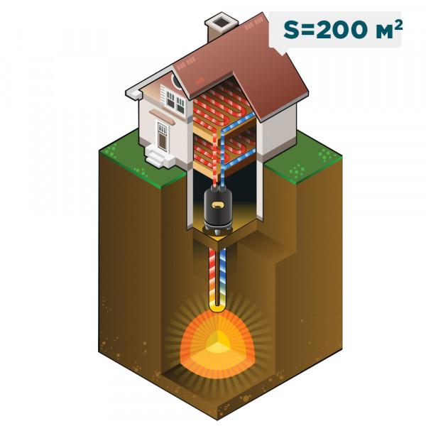 Отопление жилого загородного дома площадью 200 м²