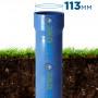 Бурение скважины с трубой НПВХ ⌀ 113 мм