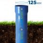 Бурение скважины с трубой НПВХ ⌀ 125 мм